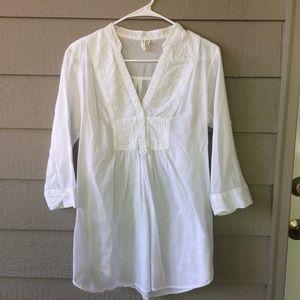 Cotton Daisy White Lightweight Tunic